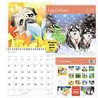 Календарь 2018 настенный перекидной на скрепке 12 листов 115 г м2 Контэнт 290х290 мм Год собаки Символ года С цветными наклейками событий +2 карманных календаря